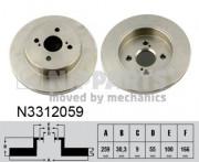 Тормозной диск NIPPARTS N3312059