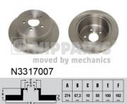 Тормозной диск NIPPARTS N3317007