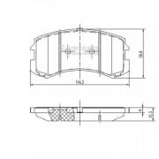 Гальмівні колодки NIPPARTS J3605048