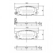Тормозные колодки NIPPARTS J3613020