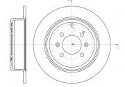 Тормозной диск REMSA 6498.00