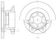 Тормозной диск REMSA 6500.00