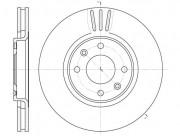 Тормозной диск REMSA 6604.10