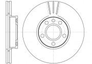 Тормозной диск REMSA 6660.10