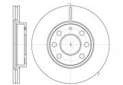 Гальмівний диск REMSA 6665.10