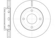 Тормозной диск REMSA 6680.10