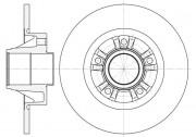 Тормозной диск REMSA 6733.00
