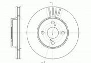 Тормозной диск REMSA 6742.10