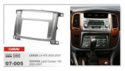 Переходная рамка Carav 07-005 Lexus LX-470 (2002 - 2007), Toyota Land Cruiser 100 (2003 - 2007), 2 DIN