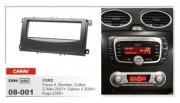Переходная рамка Carav 08-001 Ford Mondeo 2007+, Focus II 2007+, C-Max 2007+, S-Max 2007+, Kuga 2008+, Galaxy 2006+, 1 DIN