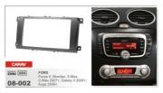 Переходная рамка Carav 08-002 Ford Kuga 2008+, Focus II 2007+, Mondeo 2007+, C-Max 2007+, S-Max 2007+, Galaxy 2006+, 2 DIN