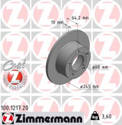 Гальмівний диск ZIMMERMANN 100.1217.20