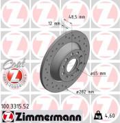 Тормозной диск ZIMMERMANN 100.3315.52