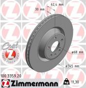 Тормозной диск ZIMMERMANN 100.3359.20