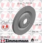 Тормозной диск ZIMMERMANN 100.3362.20