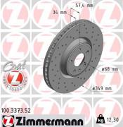 Гальмівний диск ZIMMERMANN 100.3373.52
