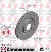 Тормозной диск ZIMMERMANN 110.2212.52