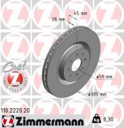Тормозной диск ZIMMERMANN 110.2220.20