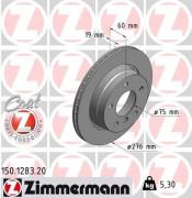Тормозной диск ZIMMERMANN 150.1283.20