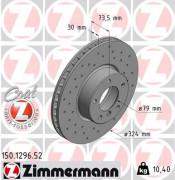 Тормозной диск ZIMMERMANN 150.1296.52