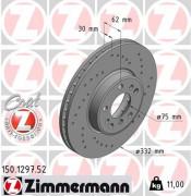 Тормозной диск ZIMMERMANN 150.1297.52