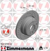 Тормозной диск ZIMMERMANN 150.1299.52