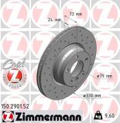 Тормозной диск ZIMMERMANN 150.2901.52