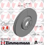 Тормозной диск ZIMMERMANN 150.2917.32