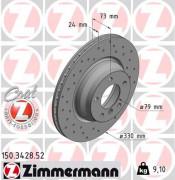 Тормозной диск ZIMMERMANN 150.3428.52