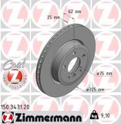 Тормозной диск ZIMMERMANN 150.3431.20