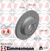 Гальмівний диск ZIMMERMANN 150.3432.52