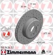 Тормозной диск ZIMMERMANN 150.3434.52