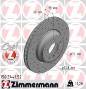 Тормозной диск ZIMMERMANN 150.3441.52