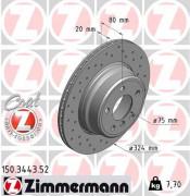Тормозной диск ZIMMERMANN 150.3443.52