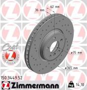 Тормозной диск ZIMMERMANN 150.3449.52