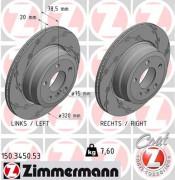 Тормозной диск ZIMMERMANN 150.3450.53