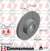 Тормозной диск ZIMMERMANN 150.3467.52