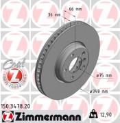 Тормозной диск ZIMMERMANN 150.3478.20