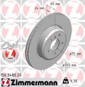 Тормозной диск ZIMMERMANN 150.3480.20