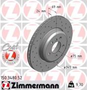 Тормозной диск ZIMMERMANN 150.3480.52