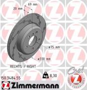 Гальмівний диск ZIMMERMANN 150.3484.55