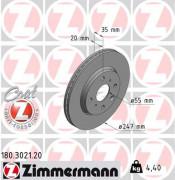Тормозной диск ZIMMERMANN 180.3021.20