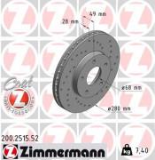 Тормозной диск ZIMMERMANN 200.2515.52
