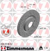Гальмівний диск ZIMMERMANN 200.2518.52