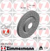 Тормозной диск ZIMMERMANN 200.2527.52