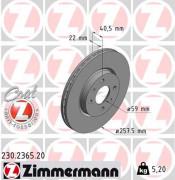 Тормозной диск ZIMMERMANN 230.2365.20