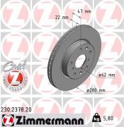 Тормозной диск ZIMMERMANN 230.2378.20