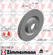 Тормозной диск ZIMMERMANN 230.2380.20