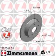 Тормозной диск ZIMMERMANN 250.1364.20
