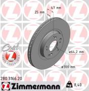 Гальмівний диск ZIMMERMANN 280.3166.20